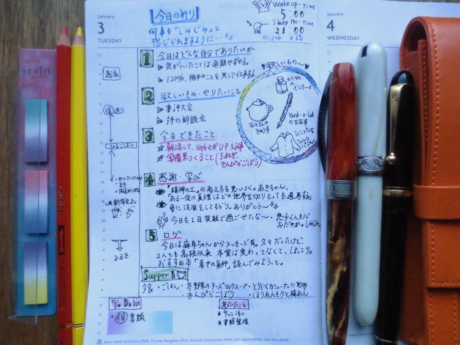 Day6:マンスリープラン&毎日手帳に書くこと10個。手帳でセルフマネジメント